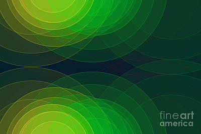 Digital Art - Pepper Semi Circle Background Horizontal by Frank Ramspott