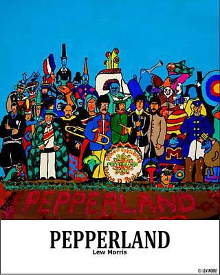 Pepperland Print by Lew Morris