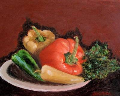 Frier Painting - Peppers And Parsley by Jamie Frier