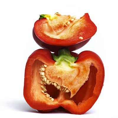 Peppers Print by Bernard Jaubert
