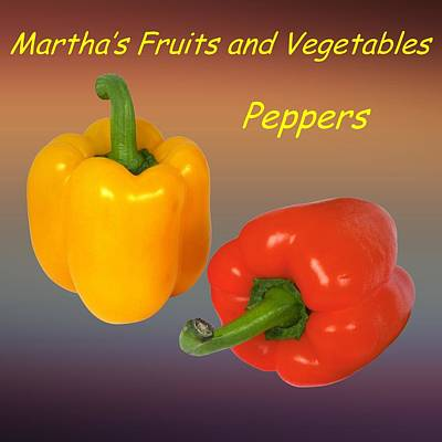 Vegetable Market Drawing - Peppers Customized  by Movie Poster Prints