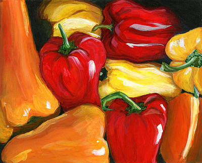 Pepper Painting - Peppers by Karyn Robinson