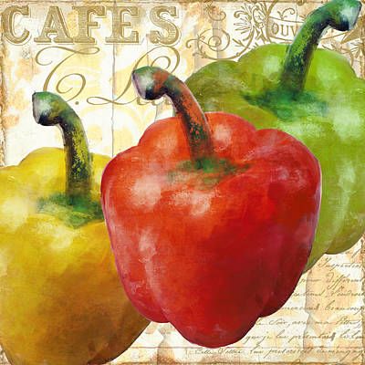 Foodie Painting - Peppers by Mindy Sommers