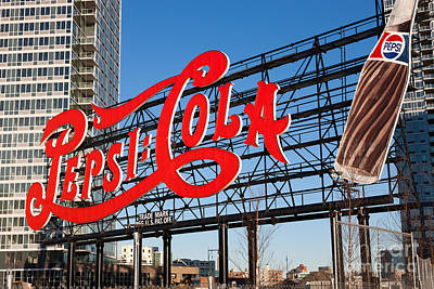 Pepsi-cola Sign I Print by Clarence Holmes