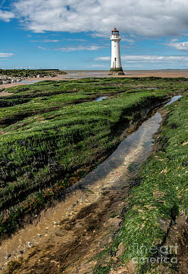 New England Lighthouse Digital Art - Perch Rock Lighthouse by Adrian Evans