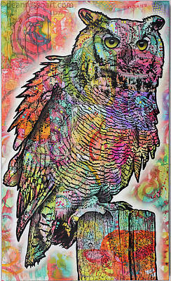 Painting - Perched Owl by Dean Russo
