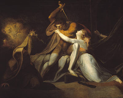 Percival Delivering Belisane From The Enchantment Of Urma Print by Henry Fuseli
