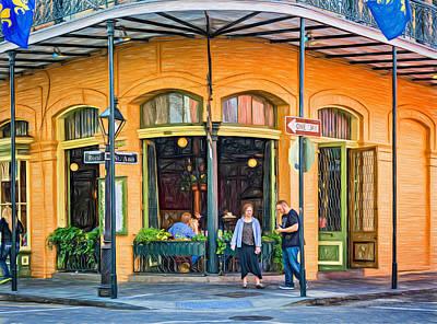 Daily Life Digital Art - Pere Antoine Restaurant - Paint by Steve Harrington
