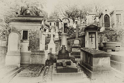 Pere La Chaise Landscape Print by Michael Riley