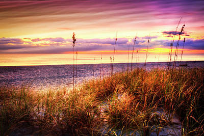 Perfect Morning At The Dunes Print by Debra and Dave Vanderlaan