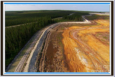 Perfect Poster Of An Ugly Polluted Landscape Of North America Read Canada Original by Navin Joshi