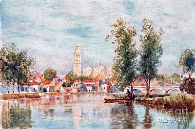Perigueux Freom The River  Print by Herbert Menzies