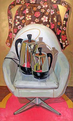 Kitchen Chair Painting - Perker Maesta by Jennie Traill Schaeffer