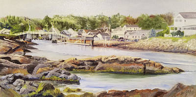 Perkins Cove Painting - Perkins Cove Ogunquit by Susan E Hanna