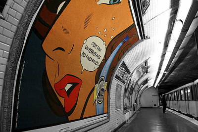Metro Art Photograph - Perrier Ad by Andrew Fare