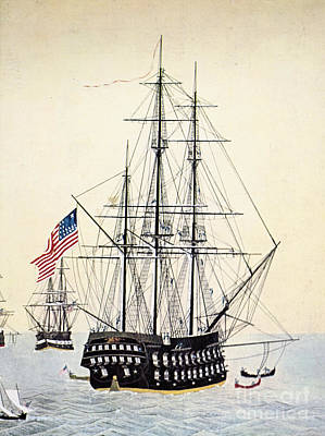 U.s. Navy Painting - Perrys Expedition To Japan by Granger