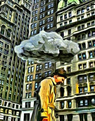 Cloud Digital Art - Persecuted - Da by Leonardo Digenio