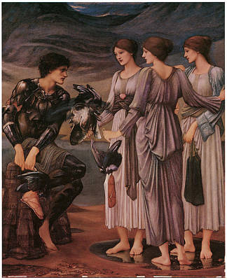 Sea Nymph Painting - Perseus And The Sea Nymphs by Edward Burne-Jones