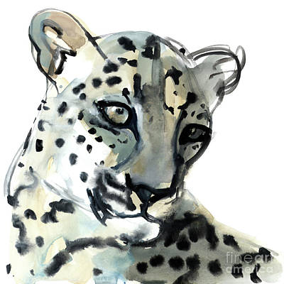 Leopard Drawing - Persian by Mark Adlington