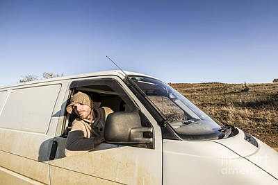 Person On Road Trip In Tasmania Print by Jorgo Photography - Wall Art Gallery