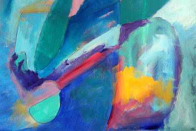 Free Form Painting - Perspective Abstract Painting by Nancy Merkle