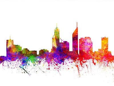 Australian Drawing - Perth Australia Cityscape 02 by Aged Pixel