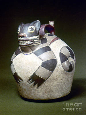 Water Jars Photograph - Peru: Nazca Whistling Jar by Granger