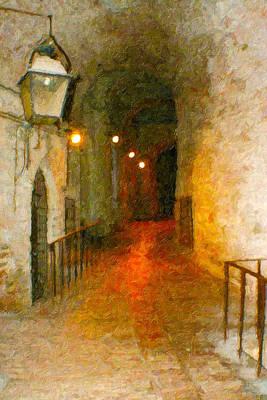 London Tube Painting - Perugia Grotto 1 by Rob Tullis