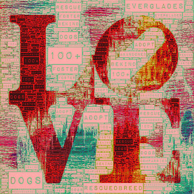 Must Art Mixed Media - Pet Adoption Love 2 by Brandi Fitzgerald