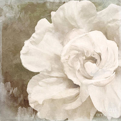 Petals Impasto II Print by Mindy Sommers