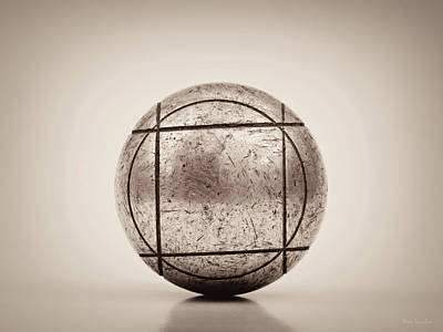 Old Objects Photograph - Petanque Ball by Wim Lanclus