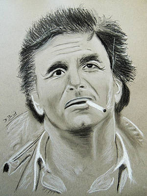Peter Falk Drawing - Peter Falk by David Briot