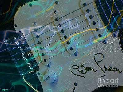 Peter Green Strat Print by Art by MyChicC