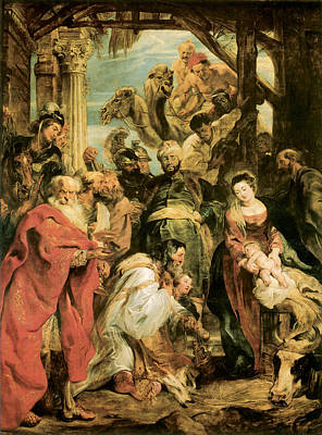 Religious Art Painting - Peter Paul Rubens by The Adoration of the Magi