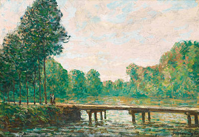 Alfred Sisley Painting - Petit Pont Sur L'orvanne by Alfred Sisley
