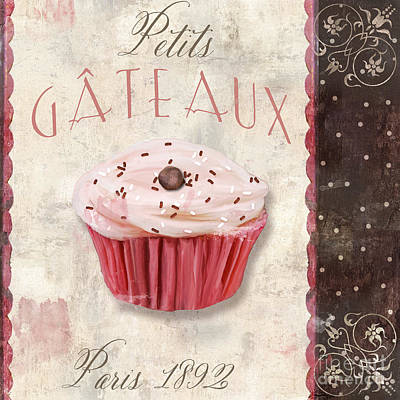 Espresso Painting - Petits Gateaux by Mindy Sommers