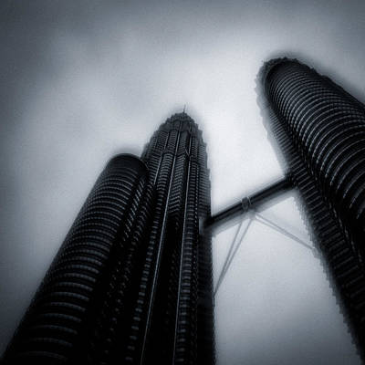 Twin Towers Photograph - Petronas Towers by Dave Bowman