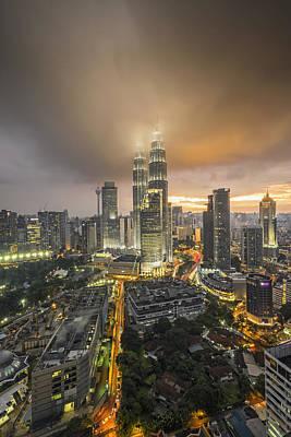 Twin Towers Photograph - Petronas Twin Towers by Mohd Rizal Omar Baki