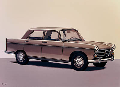 Peugeot 404 1960 Painting Print by Paul Meijering