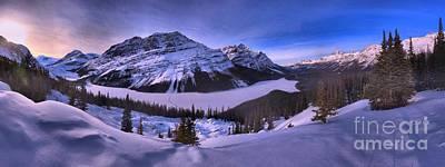 Peyto Lake Lookout Panorama Print by Adam Jewell
