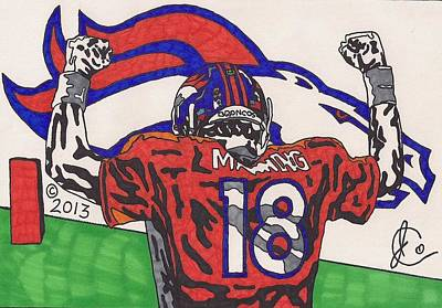 Peyton Manning Drawing - Peyton Manning 1  by Jeremiah Colley