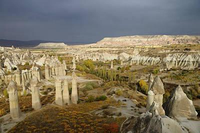 Cappadocia Photograph - Phallic Fairy Chimneys In Love Valley Goreme National Park Turke by Reimar Gaertner