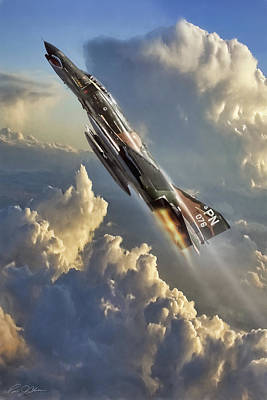 Jet Digital Art - Phantom Cloud Break by Peter Chilelli