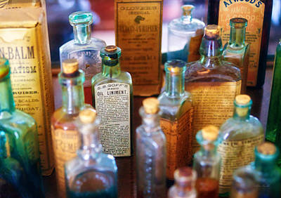 Custom Glass Photograph - Pharmacist - Liniment And Balms by Mike Savad