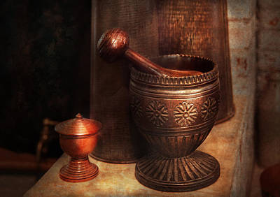 Mortar And Pestle Photograph - Pharmacy - Pestle - Luxury Tools  by Mike Savad