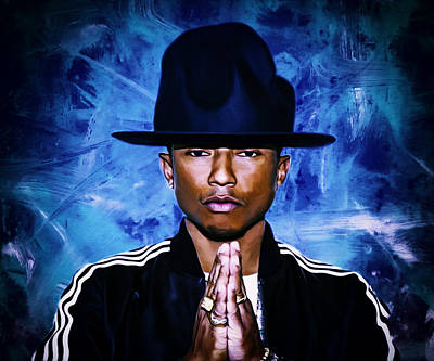Hightower Painting - Pharrell Williams Happy II by Brian Reaves