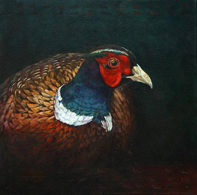 Pheasant Portrait Original by Candy McManiman