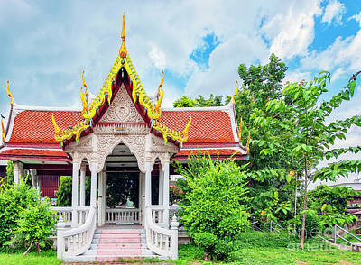 Phetchaburi Temple Print by Antony McAulay