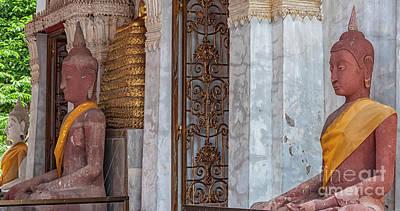 Phetchaburi Temple Entrance Print by Antony McAulay