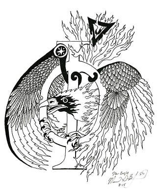 Phi Eagle Print by Melinda Dare Benfield
